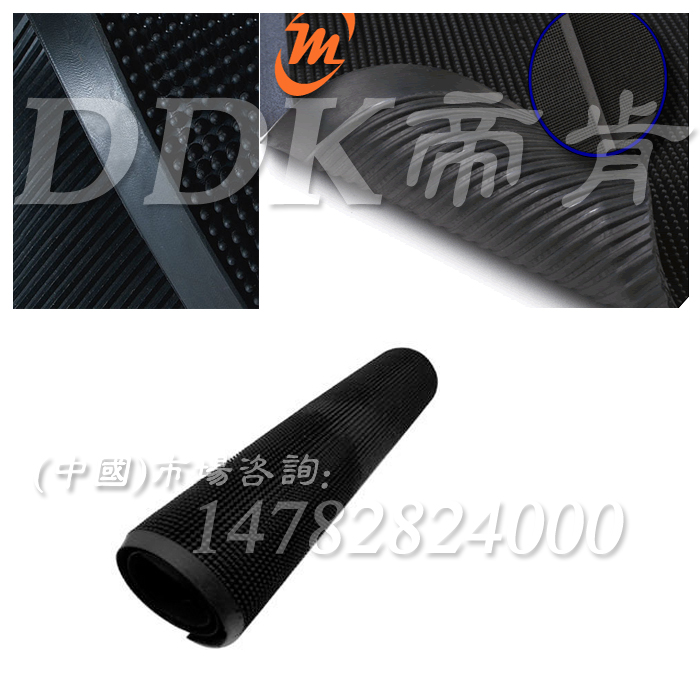 特种重工业地面使用抗疲劳弹性脚垫「帝肯(DDK)_1000_9979(力诺)」橡胶材质弹柱防滑缓冲舒适型_极大缓解站立工作之疲劳!