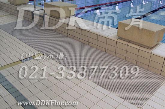 米色_卡其色_泳池岸边地面排水防滑倒安全地毯