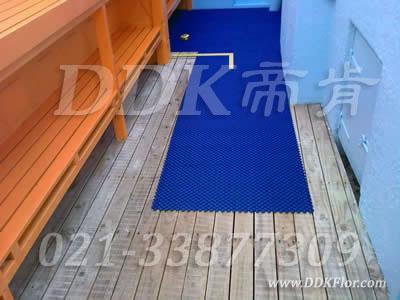 蓝色,桑拿房地面