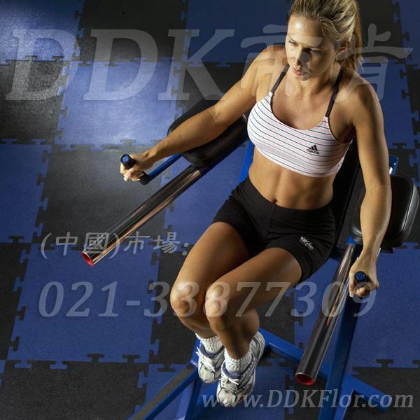 黑色+蓝色_健身房器械区地面地板
