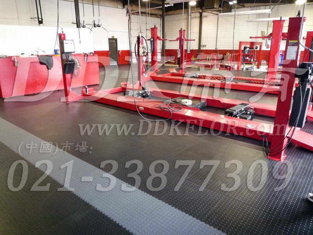 深灰_汽修厂举升机地面防滑耐压地板铺设