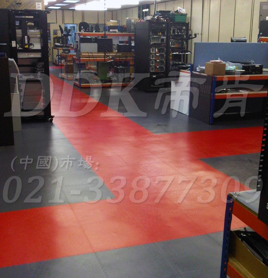 红+灰_工厂车间地板铺装
