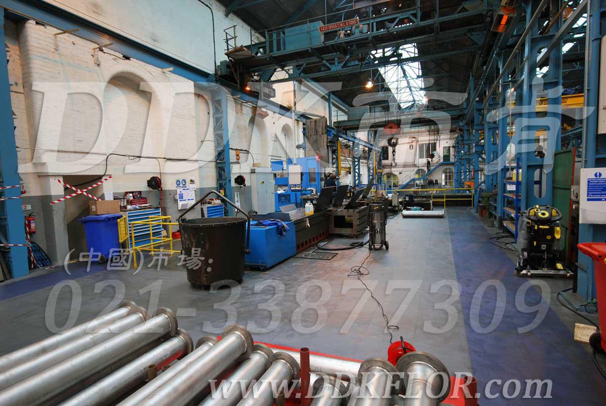 灰色+蓝色_工业厂房车间地面地板保护铺装材料