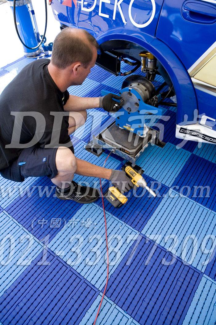 深蓝+浅蓝(7)_雪佛兰汽车维修车间地板