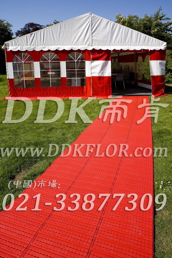 红色(1)_户外活动草坪地面保护材料样板图片,帝肯(DDK)_7000_222(草坪保护材料)效果图,草坪保护板,草坪保护垫,草坪专用盖板,草坪地板