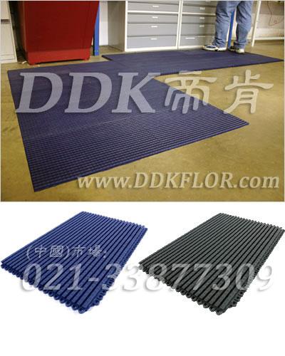蓝色_走道防滑地板铺装
