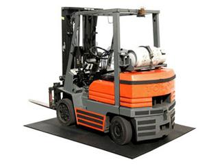 【叉车车间超强防尘地垫】安装超强防尘地垫对叉车车间出入口除尘清洁的好处