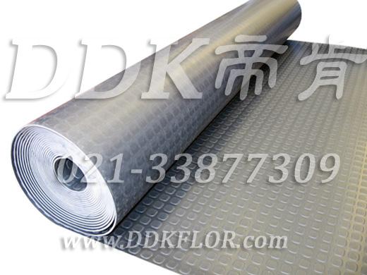 三层复合结构_方块型防滑表面_工业卷材地板_经济型适于大面积厂房地面保护铺装