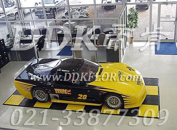 黑黄相间_4S店汽车展示地面使用