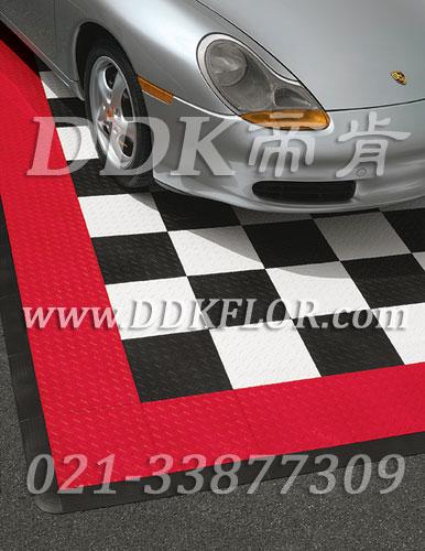 黑+白+红_汽车展厅地面材料