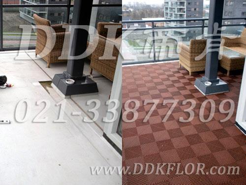 红专色铺装效果对比_露天阳台地面设计实景效果图