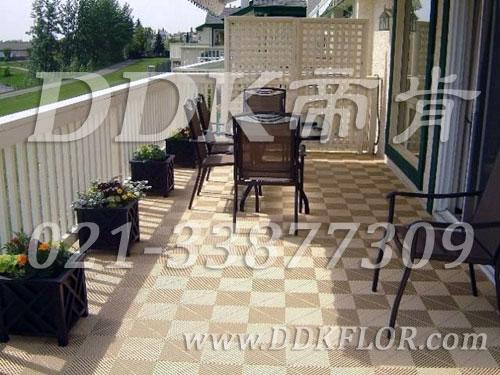 别墅阳台地板砖装修效果图家庭装修网别墅图片14