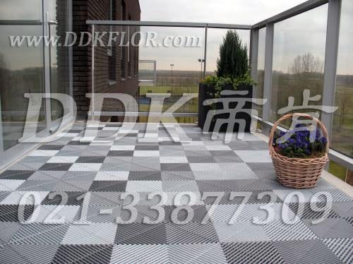 别墅阳台地板砖装修效果图家庭装修网别墅图片5