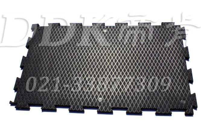 黑色_菱纹表面_抗压耐磨防滑厚地板(3)