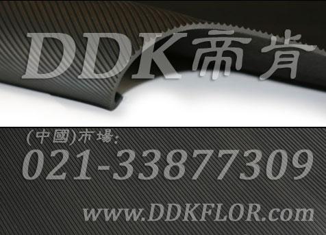 黑色耐磨型条纹防滑毯(3)样板图片,帝肯(DDK)_S450(Groove|加州)效果图,竖直条纹,坑条防滑垫,地胶,地板胶,地面保护地毯,地面保护垫