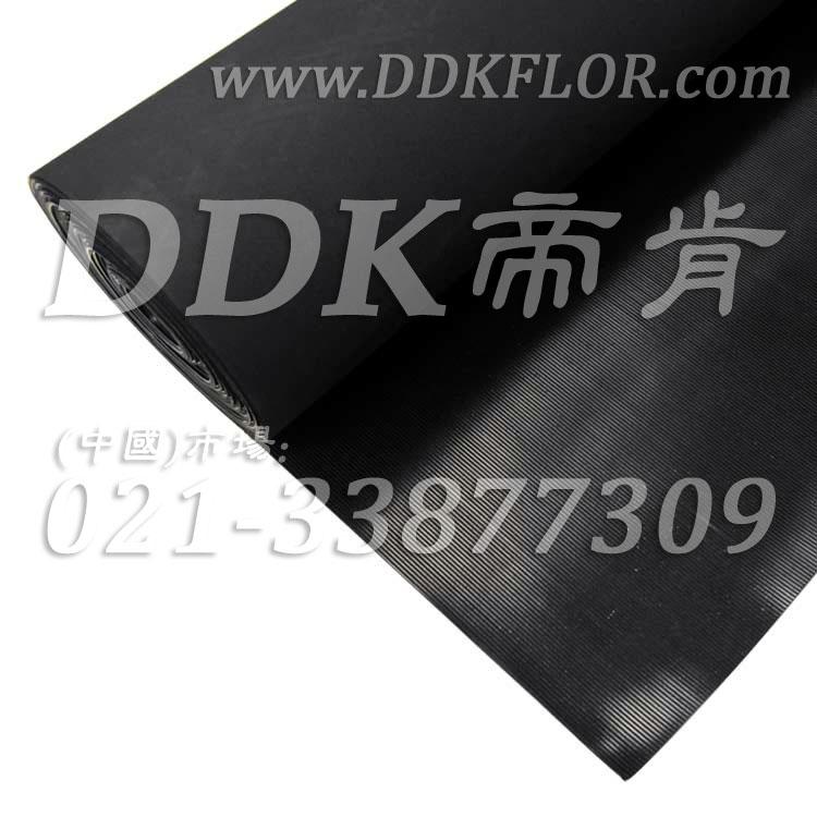 黑色耐磨型条纹防滑毯(5)样板图片,帝肯(DDK)_S450(Groove|加州)效果图,竖直条纹,坑条防滑垫,地胶,地板胶,地面保护地毯,地面保护垫