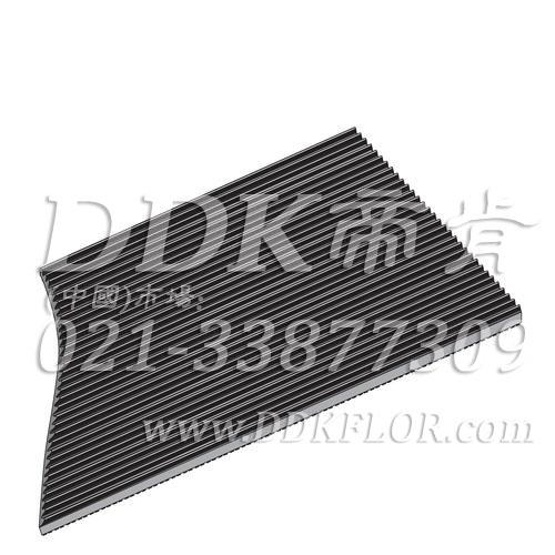 黑色耐磨型条纹防滑毯(6)样板图片,帝肯(DDK)_S450(Groove|加州)效果图,竖直条纹,坑条防滑垫,地胶,地板胶,地面保护地毯,地面保护垫