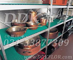 绿色_厨房器皿间层架防滑防护直纹网格毯(5)