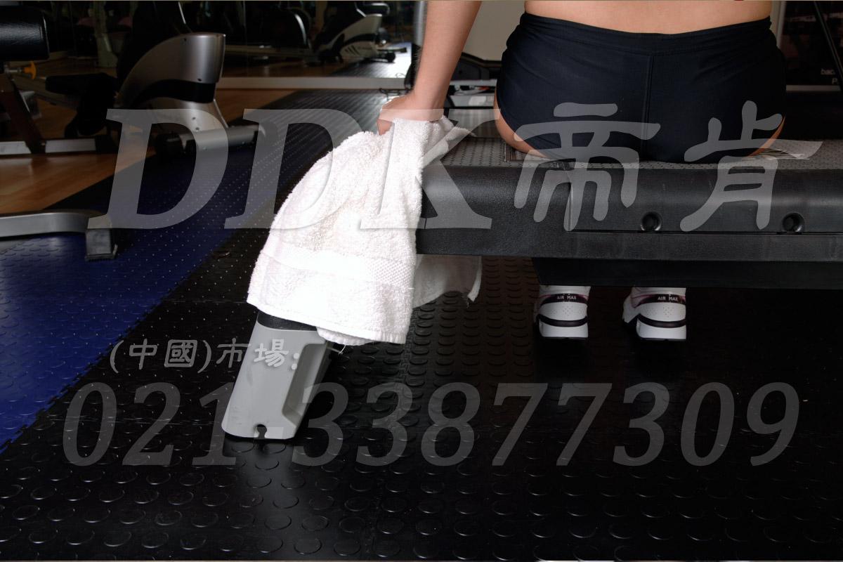 室内健身房运动地面材料(1)_黑色加蓝色