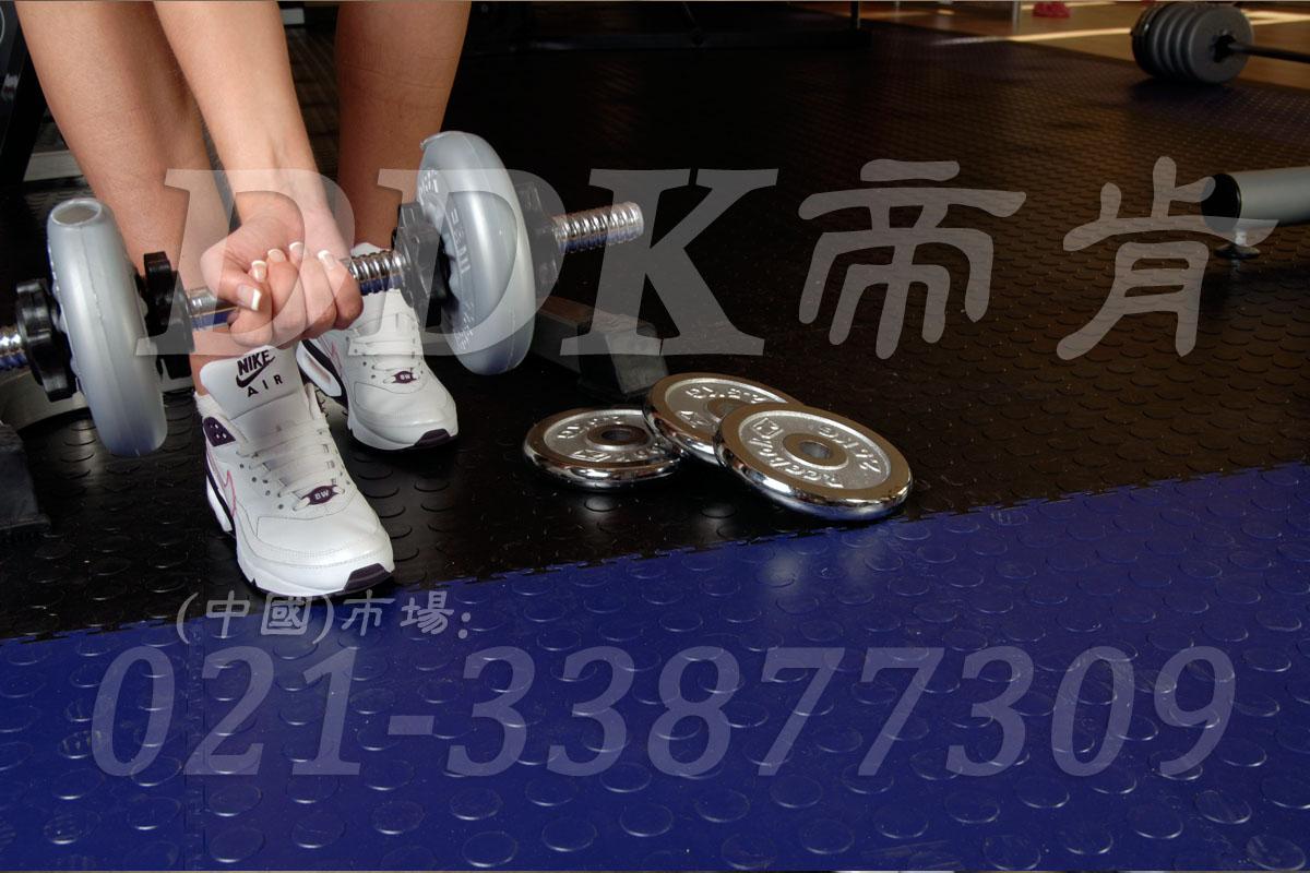 室内健身房运动地面材料(2)_黑色加蓝色
