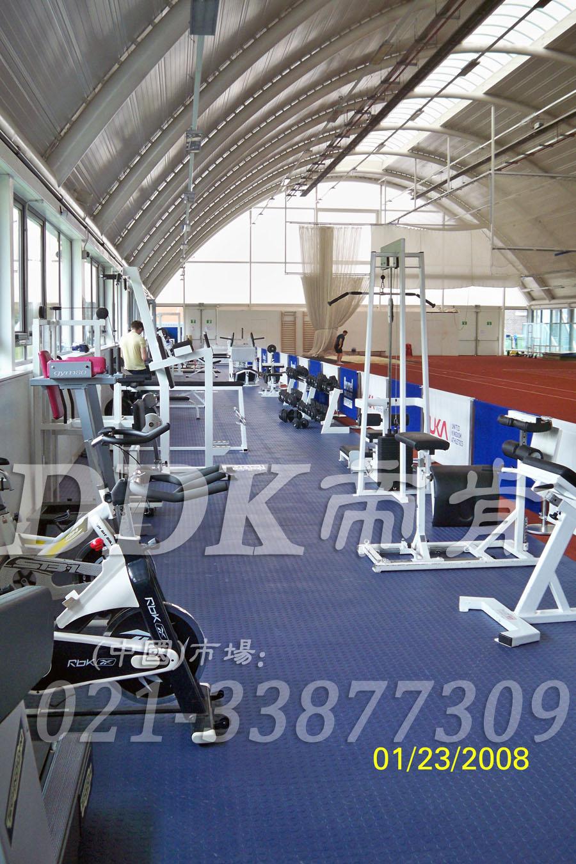 室内健身房运动地面材料(12)_蓝色