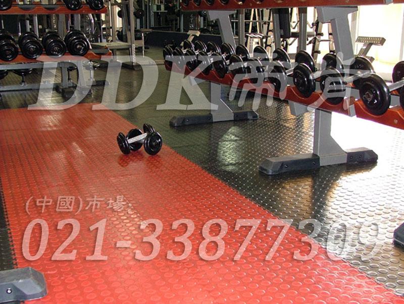 室内健身房运动地面材料(28)_橙红色加深灰色