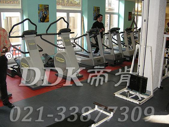室内健身房运动地面材料(32)_红色加灰色