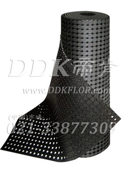 【缓震防滑重工业车间地毯】工作通道用的车间防护地毯卷材—帝肯(DDK)_4500_9979(BRD|大道)多孔阵列型工业车间地毯