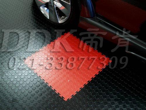 私家车库装修车库地坪地面材料 7 红加黑灰色铜钱表面地板