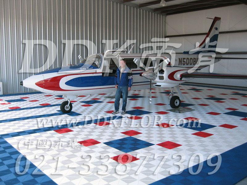 私人飞机停机坪做法(1)_蓝白红色相间组装