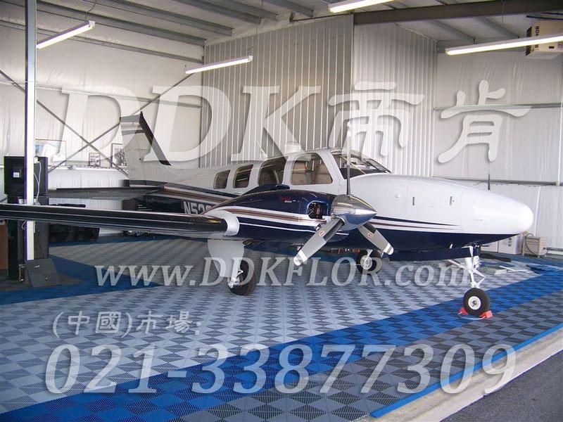 私人飞机停机坪做法(2)_蓝色加灰色私人飞机库停机地面地板