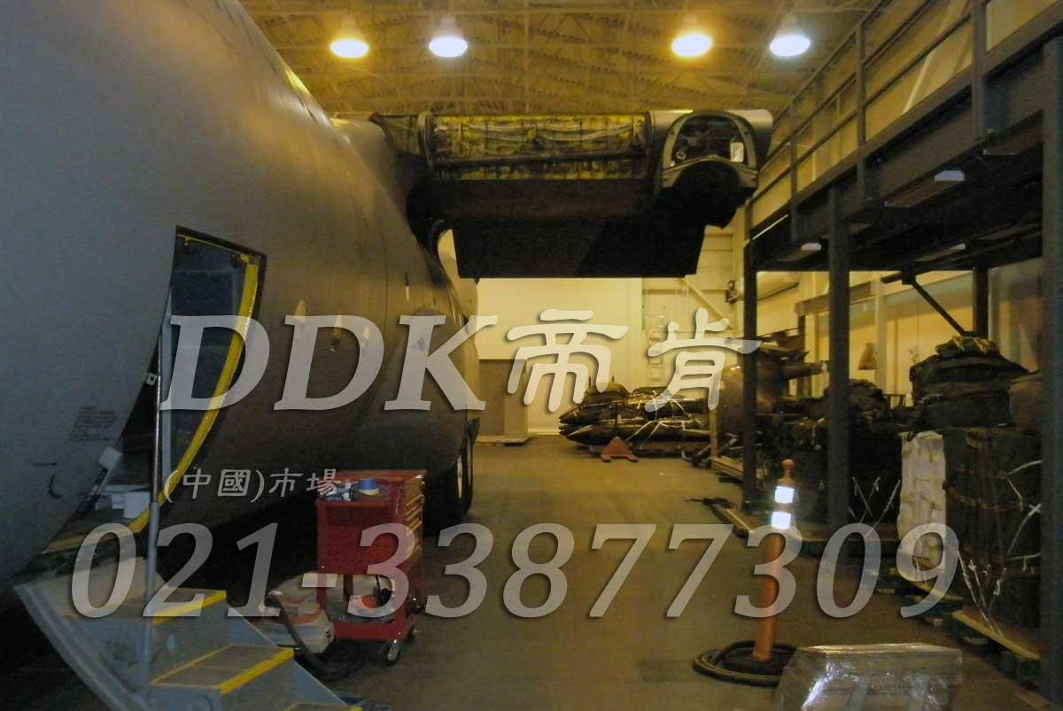 灰色_飞机检修库地面专用地板铺设