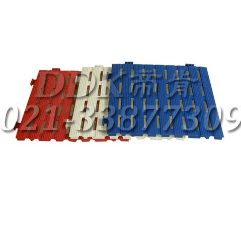 带状型_漏空防滑板_30x30cm_颜色红白蓝