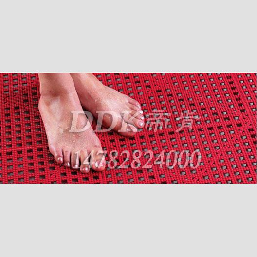 简易组合拼接-尺寸300x300mm-防滑塑料网格地垫-适用于浴室、游泳池边等