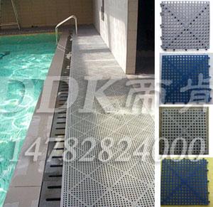 【游泳馆防滑地胶】灰色效果拼接式游泳馆防滑地胶