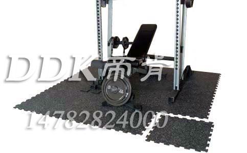 【健身房器械专用橡胶地板】10mm厚可定制健身房器械专用橡胶地板