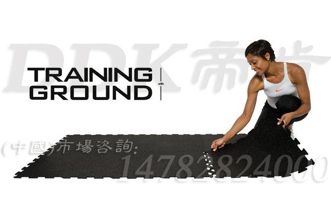 【健身房力量区训练垫】自由组合型健身房力量区域隔音橡胶垫样板图片,帝肯(DDK)_S3020_P500(Niki|耐柯)效果图,健身房地胶,健身房地毯