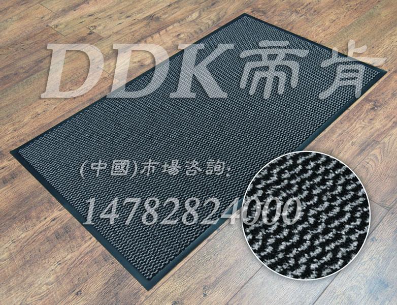 DDK灰白色虎皮纹吸水吸尘的门口防尘地毯,