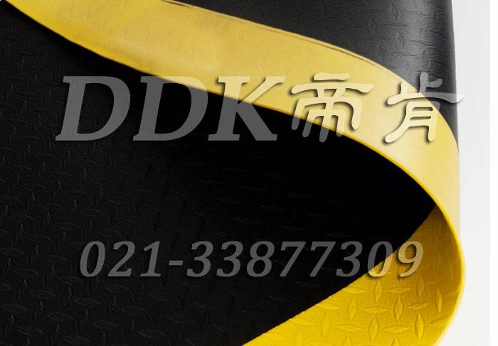 【工厂流水线旁弹性防滑地毯】提供3mm/5mm/9mm/12mm厚_独特菱形柳叶纹表面车间弹性防滑地毯(标准型),可选定制。