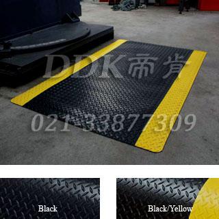 钢纹防滑耐磨PVC抗疲劳垫「帝肯(DDK)-F220(Crown|皇冠)」发泡PVC抗疲劳垫