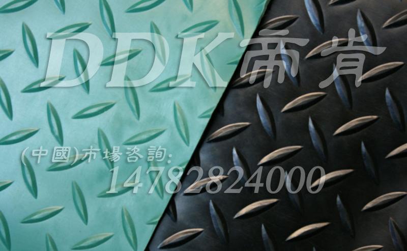 钢板纹地胶,1.3米宽钢板纹pvc地胶,红/绿色车间工业地胶